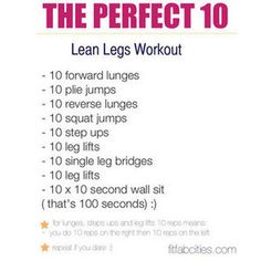 Printable Leg Workout to Do at Home.... About to do this right now!