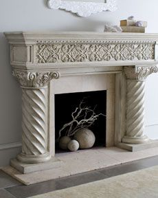 "Horchow ""Regal"" Fireplace Mantel"