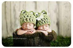 Baby Frog Hat, Plain - Boys or Girls,  Many Sizes - Preemie, Newborn, Infant. $12.00, via Etsy.