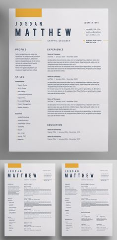 30 Creative Clean CV / Resume Templates with Cover Letters - Resume Template Ideas of Resume Template - Perfect Resume / CV Template Modern Resume Template, Resume Template Free, Creative Resume Templates, Free Resume, Creative Resume Design, Creative Brief Template, Templates Free, Resume Layout, Job Resume