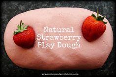 Natural strawberry play dough recipe