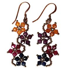 Shop for Handmade Sterling Silver Multi-colored Crystal Flower Earrings (USA). Get free delivery On EVERYTHING* Overstock - Your Online Jewelry Destination! Evil Eye Earrings, Tiny Stud Earrings, Flower Earrings, Bead Earrings, Handmade Jewelry Tutorials, Handmade Bracelets, Beading Tutorials, Beaded Jewelry, Fine Jewelry