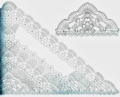 japanese+crochet+lace+patterns | Crochet Shawl Pattern - Pineapple Crochet Lace