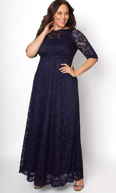 aa980aec8ed Special Edition Leona Lace Gown - Sparkling Sapphire