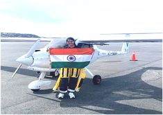 The sky is certainly not the limit when it comes to flying high, especially for Indian women. Captain AarohiPandit has scripted history once again by becoming world's first woman to fly solo over Atlantic and Pacific Ocean in a Light Sports Aircraft (LSA). The 23 year-old is a resident of Borivali, Mumbai, and is a former student of Ryan International School. Light Sport Aircraft, International School, Student Life, Pacific Ocean, Mumbai, Baby Strollers, Things To Come, Sky, Indian