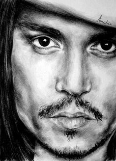 Pencil Portraits - Johnny Depp by frescasebrava on deviantART ~ traditional pencil art - Discover The Secrets Of Drawing Realistic Pencil Portraits.Let Me Show You How You Too Can Draw Realistic Pencil Portraits With My Truly Step-by-Step Guide. Amazing Drawings, Realistic Drawings, Beautiful Drawings, Cool Drawings, Celebrity Drawings, Celebrity Portraits, Pencil Portrait, Portrait Art, Pencil Art