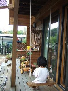 ウッドデッキ 木製 ブランコの作り方 自作 手作り Diy ブランコ Diy