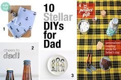 10 easy & awesome DIYs for #FathersDay - every dad should get #10 on the list!