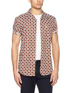 cdb3ee45d Ben Sherman Men's Optical Mod Stripe Casual Shirt, Grey (Tobacco),  XX-Large: Amazon.co.uk: Clothing
