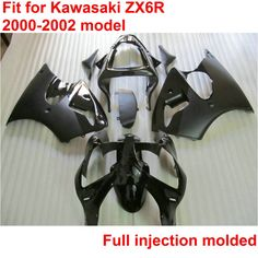 335.79$  Know more - http://aivdz.worlditems.win/all/product.php?id=32795308096 - Bodywork ABS plastic fairings for Kawasaki ninja zx6r 00 01 02 black injection mold fairing kit ZX6R 2000-2002 OTO35