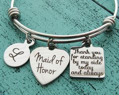 Maid of honor Gift, Maid of Honor proposal gift, matron of honor gift, personalized wedding gift, maid of honor jewelry, bridal party gift • Pinterest • Pinteresting  • Pinterast • Пинтерест • Пинтераст • Пинтерестинг • Етзи  • Этси • Заработок на Этси