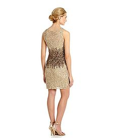 Adrianna Papell Beaded Sheath Dress #Dillards