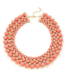 Royal Bauble Necklace - Coral #shoplately