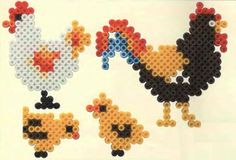 Farm animals hama perler beads