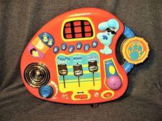 Mattel 2001 Blue's Clues Mixin' Music Studio Jr DJ w/Lights Sound Mic Record EUC #FisherPriceMattel