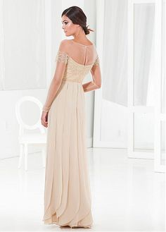 Buy discount Glamorous Tulle & Chiffon Sheath Jewel Neckline Full-length Mother of the Bride Dress at Laurenbridal.com