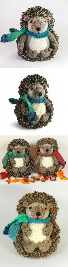Hedley the hedgehog by Janine Holmes Found at Amigurumipatterns.net