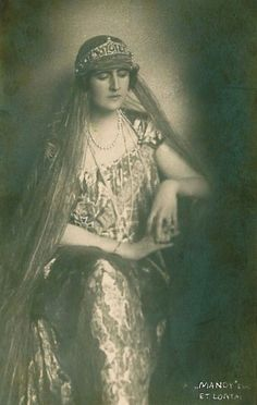 Pss Elisabeta of Greece, nee Pss of Romania; wearing her mother, Queen Marie of Romania's, Cartier tiara.