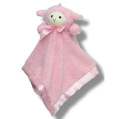 Lamb Head  Blankie / Comforter / Security blanket - Pink