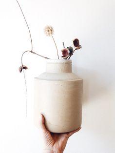 Primitive Pottery Vase - vintage salt glazed, crock