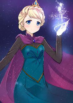 Frozen: Queen Elsa fanart.Ü