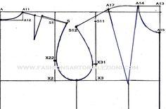cartamodello base del abito tubino