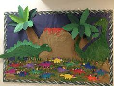 Risultati immagini per dino deco classroom Dinosaur Bulletin Boards, Dinosaur Classroom, Dinosaur Theme Preschool, Dinosaur Activities, Preschool Bulletin Boards, Preschool Crafts, Crafts For Kids, Dinosaur Projects, Dinosaur Crafts