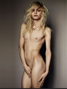 Andrej Pejic. Andrej's beautiful face and long blonde hair are too gorgeous to resist.