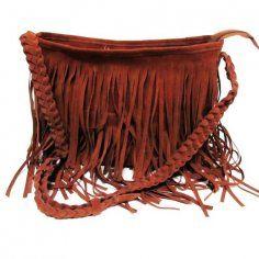 Brown Fringe Long Shoulder Bags for Women - Vintage Fringe Long Shoulder Bags for Women