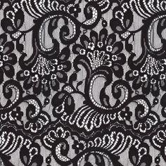 Large black lace fabric by bonnie_phantasm on Spoonflower - custom fabric