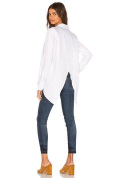 Viktoria + Woods Merrit Open Back Shirt in White   REVOLVE