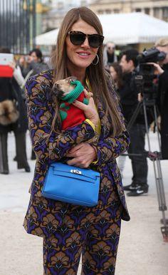 Anna dello Russo - Arrivals at the Valentino Fashion Show