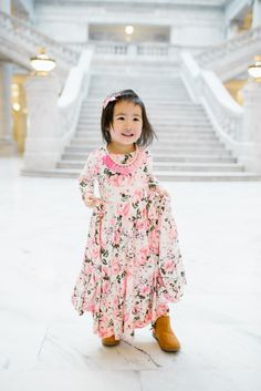 Toddler Floral Swing Dress | Mommy and Me Outfits: Floral Dresses from Shop Maisie Jayne | mommy and me fashion | mommy and me outfit ideas | mommy and me easter outfits | easter outfits for mom and daughter | mommy and me style || Sandy A La Mode
