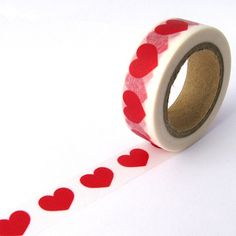 Big Red Love Hearts Washi Tape