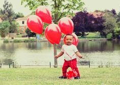 1st birthday portrait shoot on in Raphael Park Essex