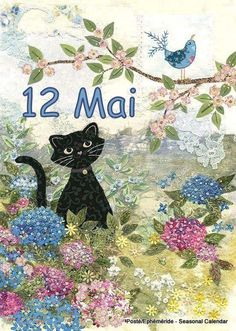Black Cat Card by Jane Crowther. Bug Art at Tattypuss. Patchwork, lace gilding and embossing make this a very special card. Cat Embroidery, Black Cat Art, Black Cats, Image Chat, Illustration Art, Illustrations, Bug Art, Cat Quilt, Cat Cards