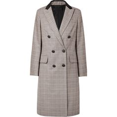 rag & bone Preston double-breasted checked wool and cotton-blend coat ($1,030) ❤ liked on Polyvore featuring outerwear, coats, wool coats, checked wool coat, multi coloured coat, checkered coat and double breasted coat