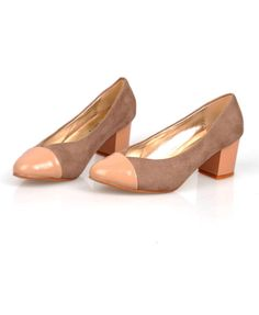 OL Style Low Heel Shoes in Color Block