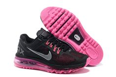 Nike Air Max 2013 Black Metallic Silver Dark Grey Fusion Pink Womens Running Shoes