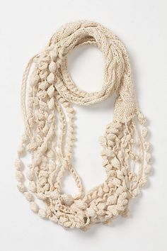 necklace scarf, knit & crochet - ANTHROPOLOGIE