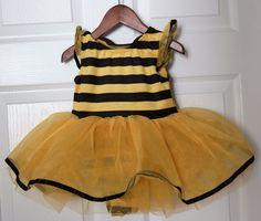 Girl's GYMBOREE Bumblebee Bee Tutu Halloween Costume Infant Toddler 12 18 Months #Gymboree