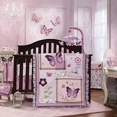 Lavender Butterfly Nursery In A Bag Bedding Set Walmart inside sizing 2000 X 2000 Purple Butterfly Baby Bedding Sets - One of the top priorities that each Pink Crib Bedding, Baby Girl Bedding Sets, Baby Girl Nursery Themes, Nursery Bedding, Baby Room Decor, Room Baby, Baby Comforter, Duvet Bedding, Baby Bedroom