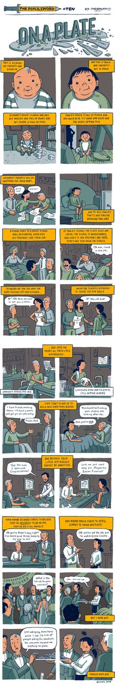 """""""On A Plate"""" - A Comic That Gives A Simple And Perfect Explanation Of Privilege (By Toby Morris) - 9GAG"""