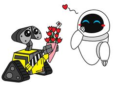 Wall-E and Eve Valentines Day by AleximusPrime