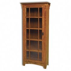 Share and save additional 1% off entire order Amish Mission Single Door Bookcase