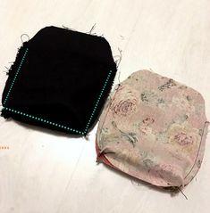 Pikkulaukku pitsillä - Ohje kehyskukkaroon tai - laukkuun - Punatukka ja kaksi karhua Zip Around Wallet, Zig Zag, Tejidos, Balls, Purses