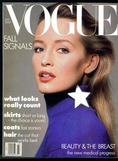 US Vogue, July 1986, Estelle LeFebure.