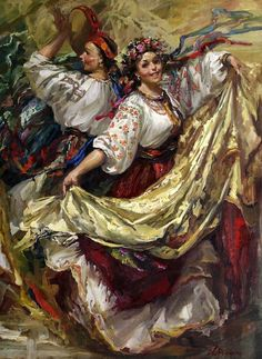 wedding picture on VisualizeUs - Bookmark pictures and videos that inspire you. Social bookmarking of pictures and videos. Find your pictures and videos. Greek Goddess Art, Ukrainian Art, Russian Art, Russian Painting, Wedding Art, Conte, Ukraine, Folk Art, Sketches