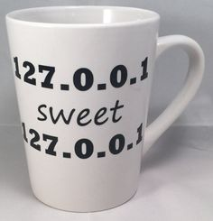 Beautifully crafted white mug with black letters will be sure to give any IT or Network technician a chuckle!  I use outdoor grade Oracal 651 vinyl. Water proof, and permanent. Hand washing is recommended for the longevity of the product. Pat dry, Do not rub.  This product is Microwave Safe $11.99