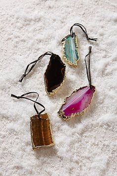 I need to start building a collection of Christmas tree decorations, and this is gorgeous! Would love a few in different colors. Agate Slice Ornament - $14